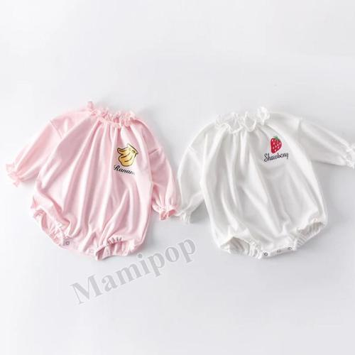 Spring and Autumn New Baby Girl Fruit Romper