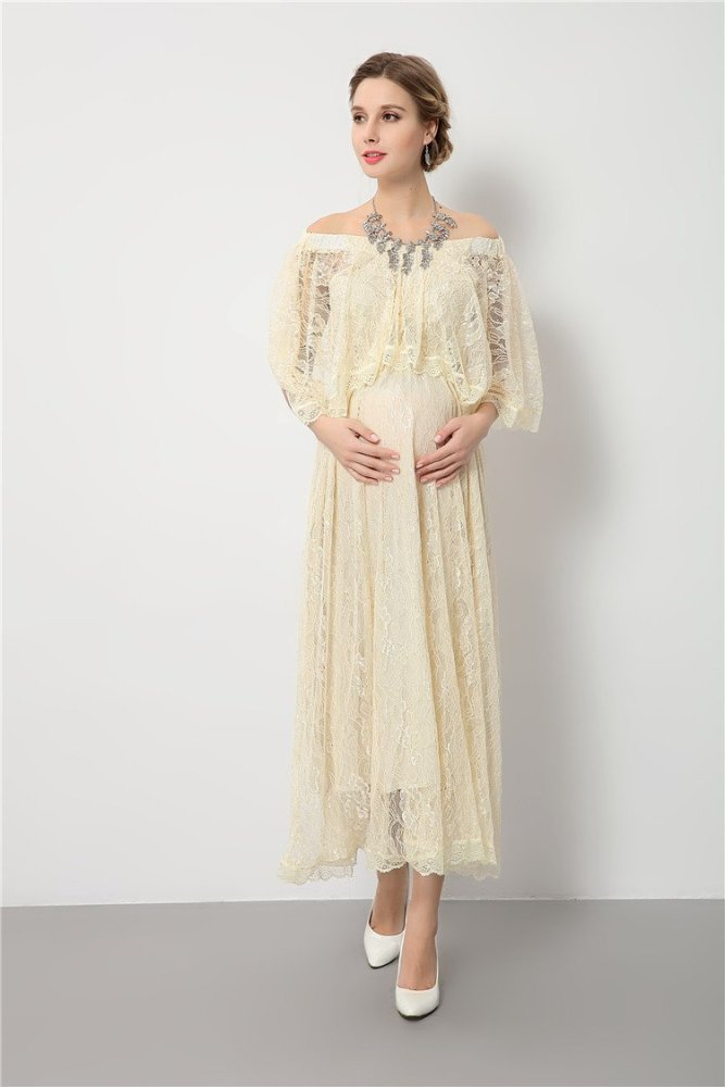 pregnancy long dress for wedding party maternity photography props