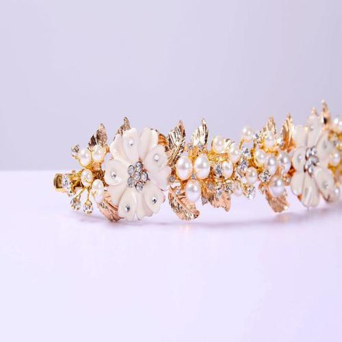 Bridal jewelry hand-beaded retro baroque gold leaf wedding dress accessories