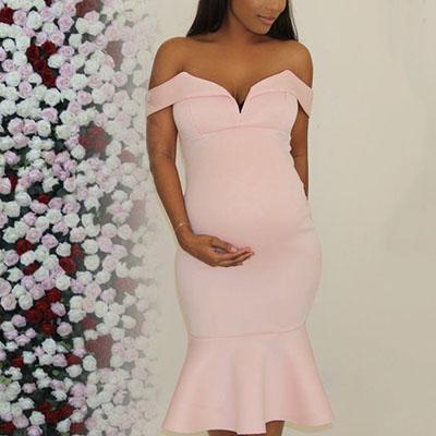 Maternity Off Shoulder Dress