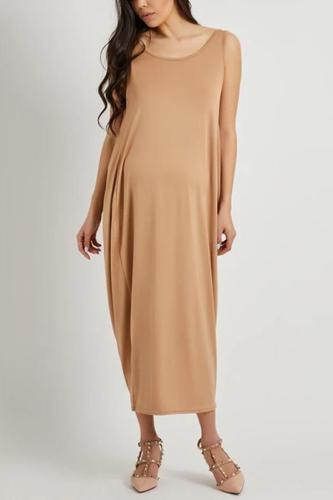 Maternity Arealook Open Back Full Length Sundress