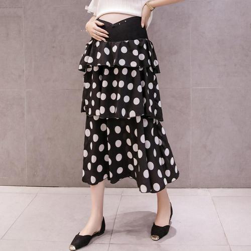 Maternity polka dot ruffle skirt