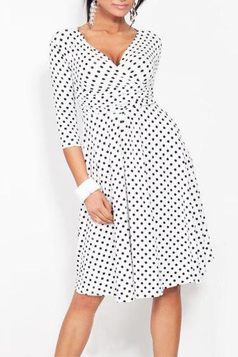Maternity Polka-Dot Print Dress