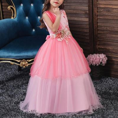 Mesh Sleeveless Long Princess Dress