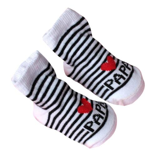 New Baby Infant Boy Girl Socks Stripe Slip-resistant Floor Love Mama Papa Letter Socks Socks