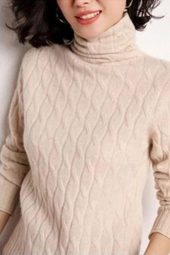 Autumn And Winter Cashmere Sweater Women's High  Cashmere Sweater