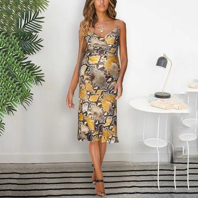 Maternity fashion deep V-neck slim strap dress
