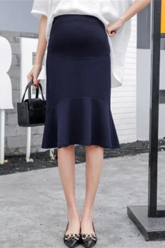 Maternity Fashion Ruffled Solid color Skirt