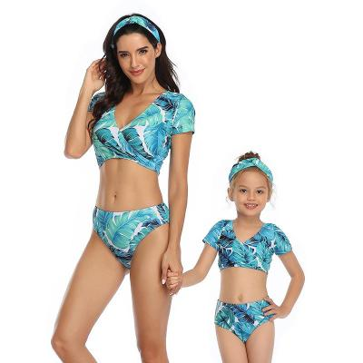2020 New Parent-child Swimsuit Fly-side Mother-Daughter Swimwear