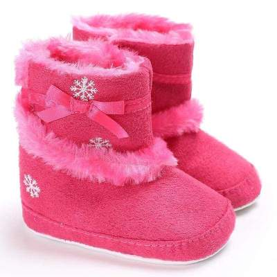 Christmas Baby Girl Winter Snow Boots (3 Colors)