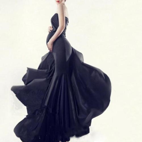 Maternity Fashion Tube Top Maxi Dress