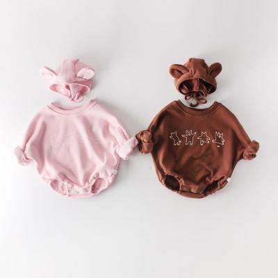 Winter 2020 New Products for Boys and Girls little Bear Baby Long Sleeve One Piece Creeper