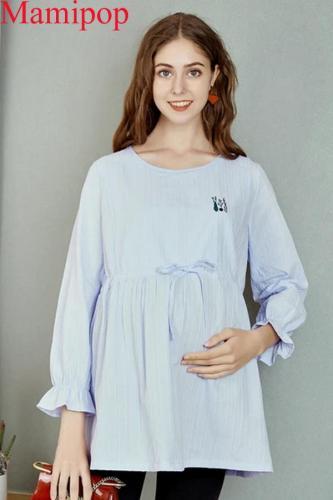 Pregnant Women's Shirt Large Size Breastfeeding Maternity Shirt