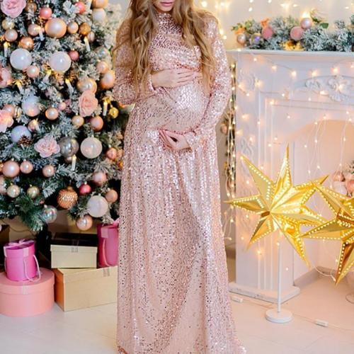 Maternity Fashion sequin dress