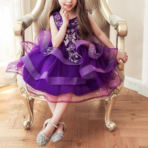 Sleeveless Embroidered Princess Show Evening Dress