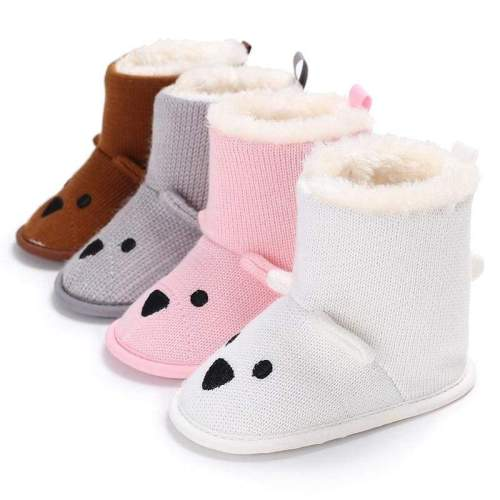 Bear Winter Plus Velvet Warm Baby Snow Boots