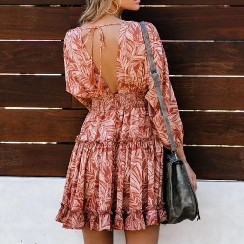 Maternity Print Long Casual Dress