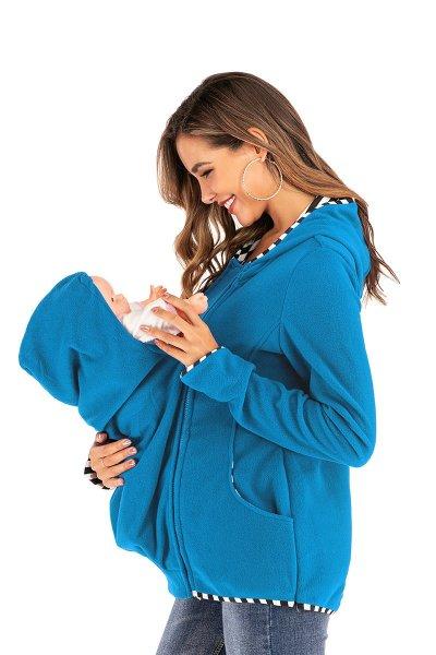 Pregnant women dress multi-functional mother kangaroo guard Coat