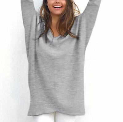 Maternity Solid Colour Long Sleeve Loose Sweater