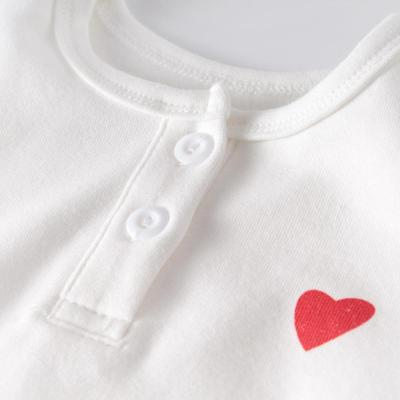2020 Spring Wear Baby Long-sleeved Ha-Shirt Climbing Dress High Waist Pants And Love Hat Baby Three-Piece Set