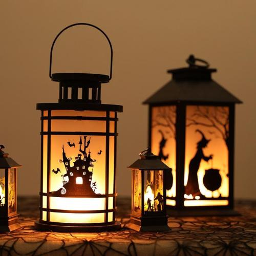 Halloween simulation flame light bar scene layout portable s