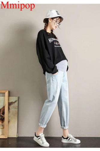 Boyfriend Loose Jeans Maternity Pants