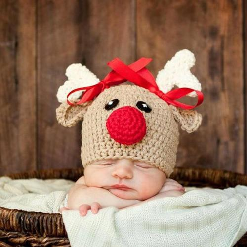 Cartoon Crochet Knitted Newborn Infant Baby Boy Girl Hats