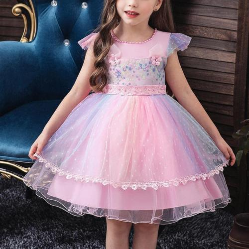 Princess Show Evening Dress With Unicorn