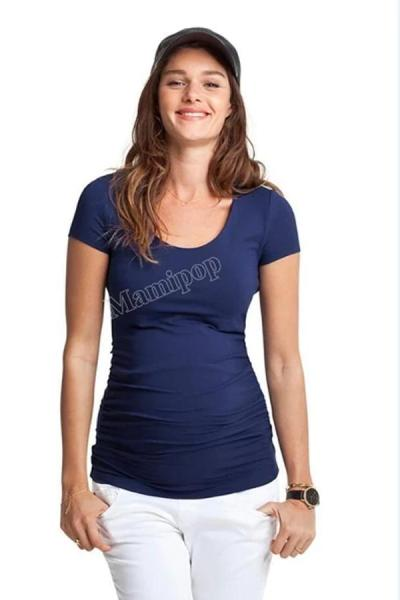 The Masternity Solid Color Round Neck T-Shirt