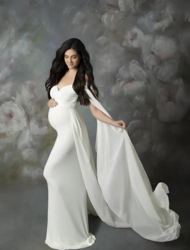 Photo Shoot of Pregnant Women's Full Length Skirt