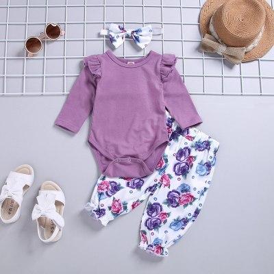 Children's Clothing  Girls Romper Pants Set