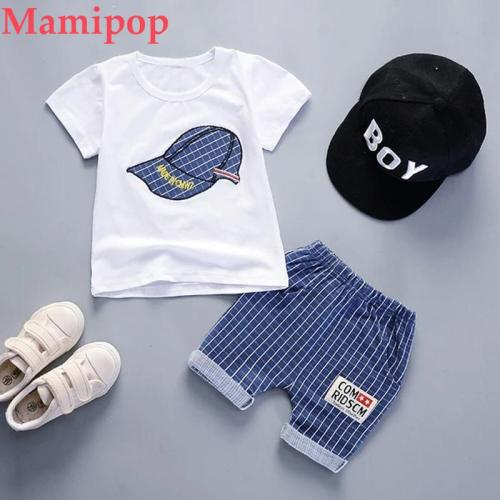 Cap Print Children Clothes New Fashion Toddler Kids Baby Boys Outfits