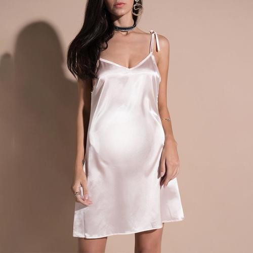 Maternity Plain Spaghetti Strap Dress