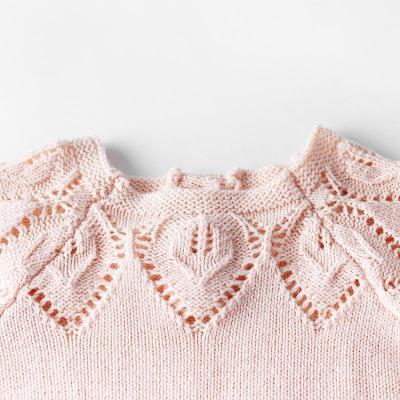 Baby Girl's Leaf Cotton kKnit Wool Knit Sweater Wrap