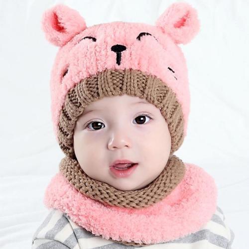2Pcs Set Baby Autumn Winter Hat And Scarf Set Cap