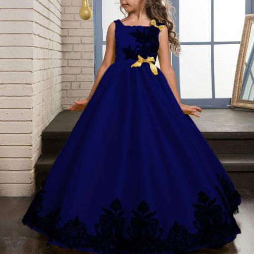 Red Embroidered Princess Evening Dress