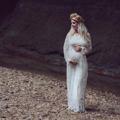 Hooked Lace Pregnant Women's Dress  Pregnant Women Lace Photo Dress