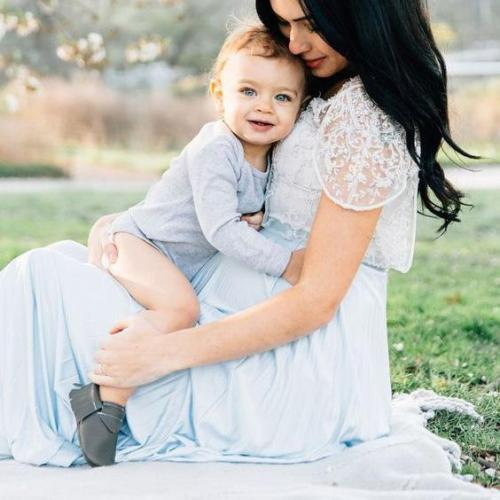 Maternity Lace Full Length Dress