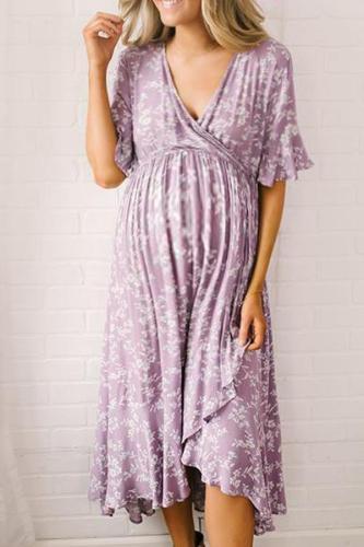 Maternity Casual Color Print Dress