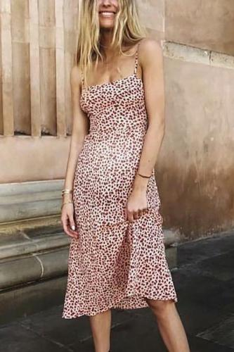 Maternity Maple Leaf Print Dress