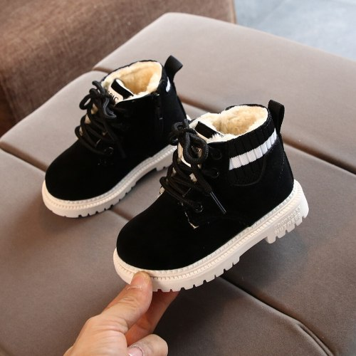 New kids boots snow boot Toddler Infant Kids Baby Girls Boys Warm Boots Lace Up Shoes