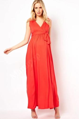 Maternity Women Dress Summer Sleeveless Sexy V-neck Ankle Length Dress