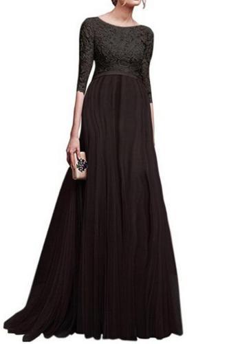 Maternity Lace Off Shoulder Long Sleeve Maxi Dress
