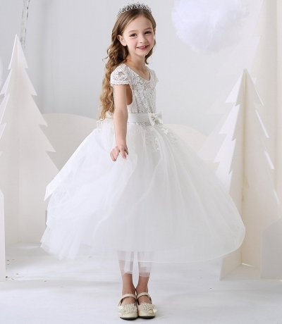 Girl's dress Princess Dress butterfly embellishment little host performance dress singing competition little girl's Birthday Dress