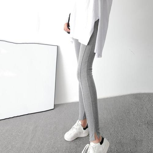 Maternity casual stitching stretch stomach lift pants
