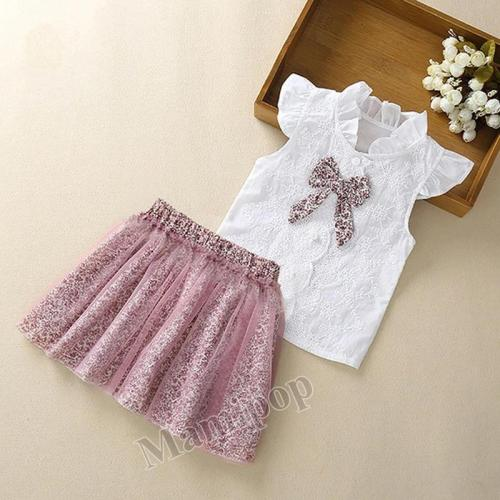 2020 Summer Children's Wear  Girl's Short Sleeve Two Piece Set