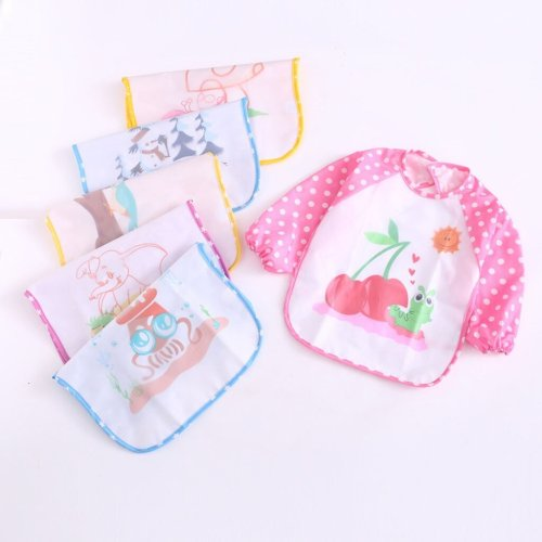 Toddler Baby Girls Boys Bibs Waterproof  Play Smock Apron