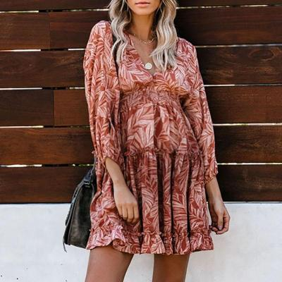Maternity Print Long Casual Dress