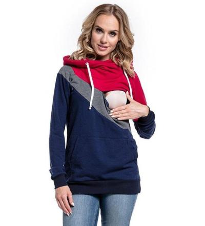 Plus Size Pregnancy Nursing Long Sleeves Maternity Clothes Hooded