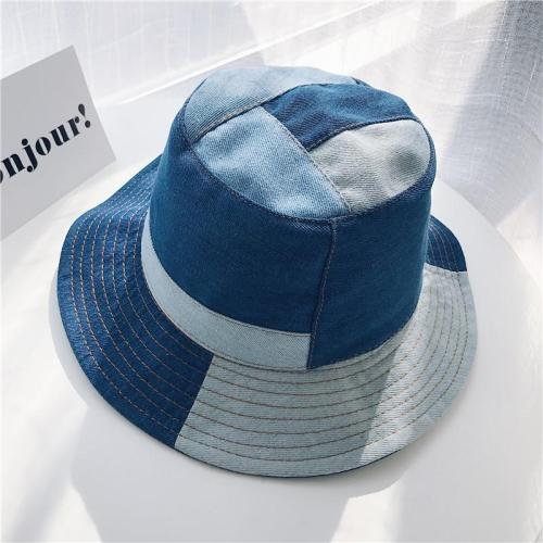 Denim Colouring Casual Fisherman Hat Women Retro Basin Cap